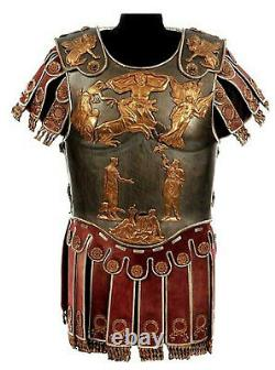 Medieval Roman Muscle Cuirass Armor Knight Breastplate with Skirt & Shoulder