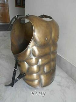 Medieval Roman Muscle Jacket Brass Antique Cuirass Armor Breastplate