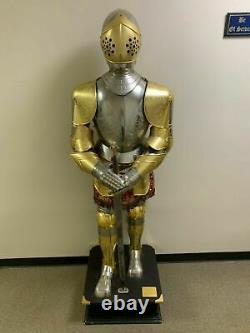 Medieval Spanish Suit Of Armor Gold Plated Fully Engraved