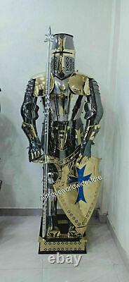 Medieval Stainless Steel Rust Free Costume Full Body Wearable Knight Armor Suit