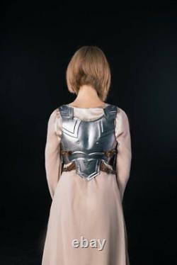 Medieval Steel Armor Corset Metal Nymph Chest&Back Breastplate Halloween