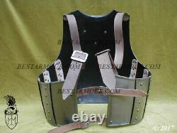 Medieval Steel Body Armour Larp Hussars Cuirass Knight Fornt Breastplate