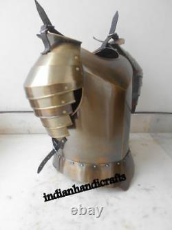 Medieval Steel Body Armour NEW Shoulder ARMOR JACKET COSTUME BRASS ANTIQUE CD75
