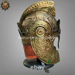 Medieval Theoden LOTR Rohan Helmet Knight Helmet with Stand TR