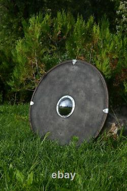 Medieval Viking Shield armour best replica wooden leather and steel finish armou