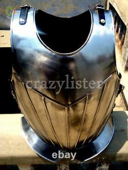 Medieval Warrior Armor Breastplate Chest Plate Gothic Harness Jacket Solid Steel