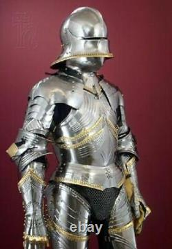 Medieval Warrior Knight Gothic Full Suit Of Armor Wearable Medieval Costume
