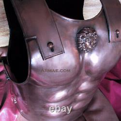 Medieval Warrior Muscular Bronze Color Knight Cuirass Body Armor Breastplate