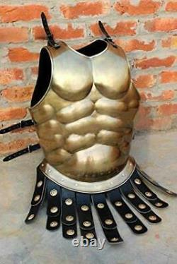 Medieval ancient roman muscle breast plate armor chest muscle armor Jacket larp