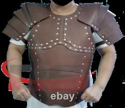 Mens Real leather medieval Armour re-enactment armour theatrical Armor LARP SCA