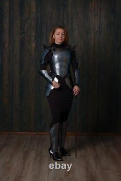 Polish Finish Medieval Armor FULL SET Of Lady Larp Queen of the war
