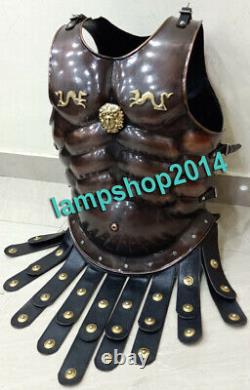 Roman Muscle Medieval Armor jacket with Leather Belt