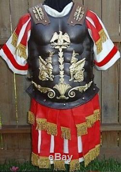 Roman officer Short Muscle Cuirass with Bronze Finish armor lorica musculata