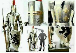 Vintage Wearable Medieval Wearable Knight Crusador Full Suit of Armour Armor