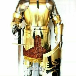 Wearable Medieval Knight Suit Of Armor Crusader Gothic Full Body Templar HT