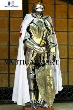 X-Mas Armour Medieval Knight Crusader Full Suit Of Armor Collectible Knight fre