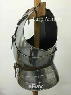 X-Mas Medieval Armor Roman Muscle Breastplate Silver Finish Armor Jacket