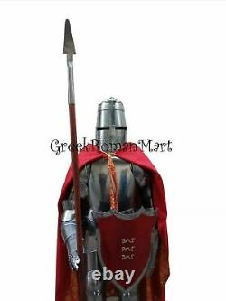 X-Mas Templar Wearable Medieval Knight Combat Armor Full Suit With Stand 6 Ftr