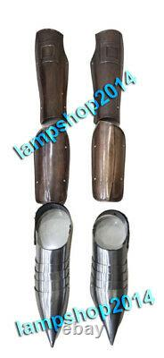 Armor Medieval Arm Guard & Leg Guard With Shoes Knight Costume