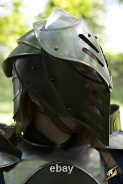 Medieval Full Body Cq Black Ice Medieval Armure Costume Complet Larp Cosplay Costume