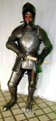 Medieval Knight Costume Portable De Blind Crusader Combat Full Body Armour Ar07