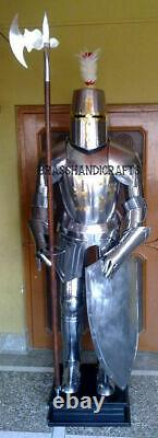 Medieval Knight Costume Portable De Blind Crusader Combat Full Body Armour Ar40