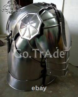 Medieval Knight Crusader Armor Pauldrons Chest & Back Armor With Leather Straps