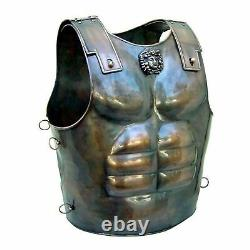 Medieval Knight Warrior Roman Cuirass Costume Muscle Jacket Breastplate