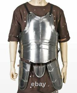 Medieval Large Body Armor 18g Metal Breast Plate Avec Tassets Cuirass Fluted