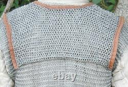 Medieval Lorica Hamata Roman Knight Steel Butted Chainmail Armor Size (moyen)