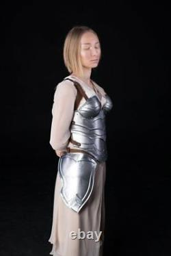 Medieval Steel Armor Corset Metal Nymph Chest & Back Breastplate Halloween