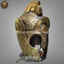 Medieval Theoden Lotr Casque Rohan Knight Casque Avec Stand Tr