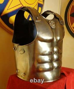 Medieval Warrior Muscular Brass Color Knight Cuirass Body Armor Breastplate