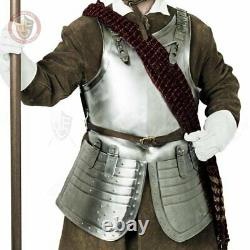 Medieval Warrior Steel Cuirass Guerre Civile Anglaise / Cuirasse Et Glands
