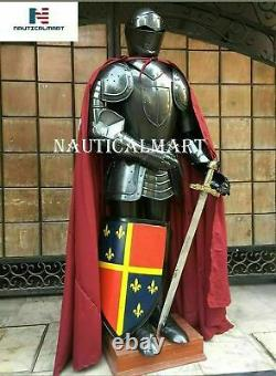 Portable Costume D'armour Medieval Crusader Combat Costume D'halloween Complet Du Corps
